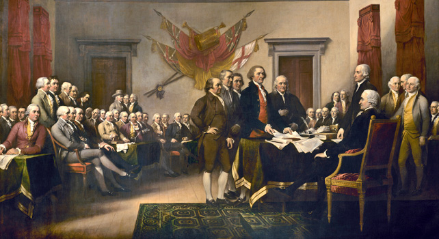old painting of first continental congress